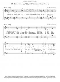 Psalm: 32nd Sunday, Year C